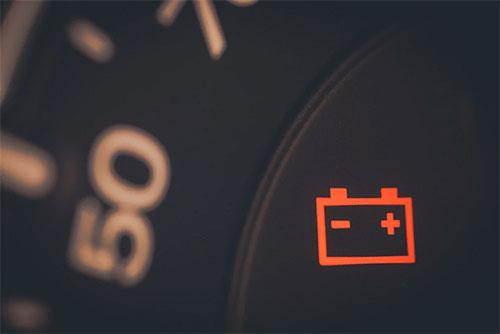 Check Battery Warning Light