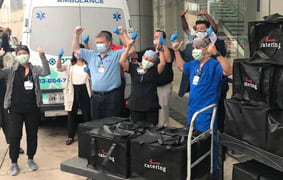 Advantage BMW Midtown and Chick-Fil-A Bring Over 600 Dinners to Houston Methodist Research Institute