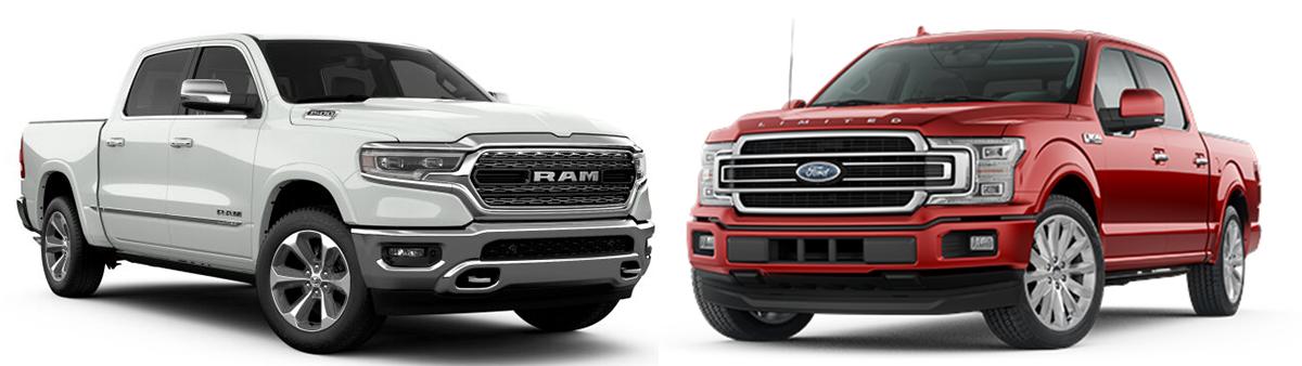 ram 1500 vs ford f150 2019 comparison