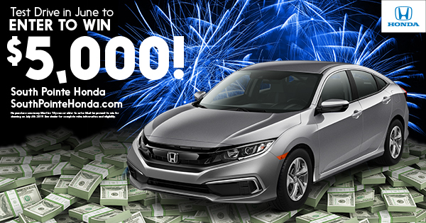 South Pointe Honda – $5,000 Test Drive Sweepstakes Official