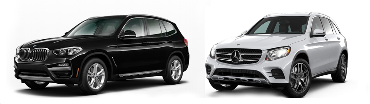 2019 mercedes-benz glc 300 vs bmw x3 comparison