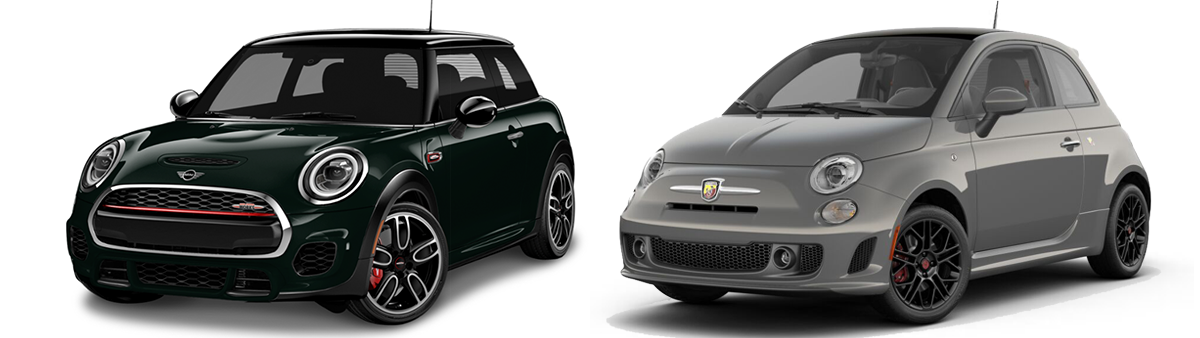 2019 mini cooper jcw vs fiat 400 abarth comparison