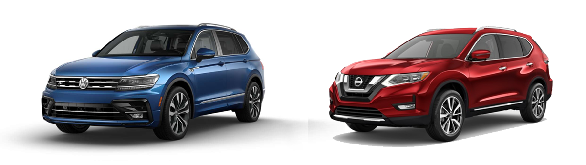 volkswagen tiguan vs nissan rogue 2019 comparison